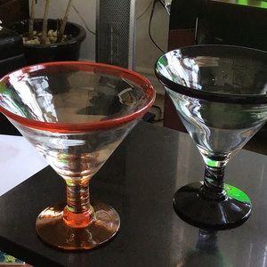 Martini/Margarita hand blown glass